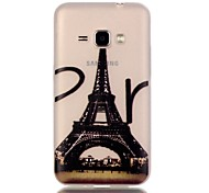 For Samsung Galaxy Case Glow in the Dark Case Back Cover Case Eiffel Tower TPU Samsung J1 (2016)