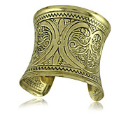 European Style Retro Fashion Classic Carved Wide Bracelet