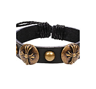 Fashion Bracelet Women Men European Style Leather