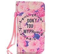 For iPhone 5 Case with Stand Case Full Body Case Word / Phrase Hard PU Leather iPhone SE/5s/5