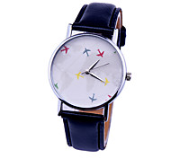 Women's watches fashion plane watches map watch leather quartz Wristwatch