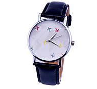 plano de relógios de moda feminina relógios mapa de relógio de couro quartzo relógio de pulso
