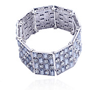 Fashion Gem Gridiron Alloy Bracelet