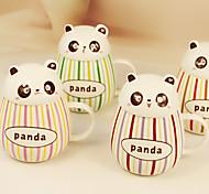 2pcs 400мл прекрасный подагра пузатый панда керамической глазури цвета бар кружки чашки воды чашки (случайный цвет)