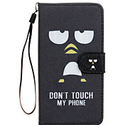 Don't Touch Me Pattern PU Leather Full Body Case with Stand for Wiko Rainbow Jam 4G