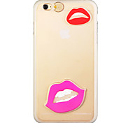 Glow in the Dark Sexy Purple Lips Pattern PC Back Case with Strap for iphone6/6s