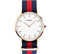Men's Simple Fashion Fabric Band Quartz Watch