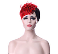 Popular Top Quality Mix color(Red&Black) Fashion Short Curly  Wig Woman's Synthetic Wigs Hair Party Wig