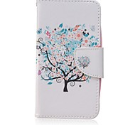 Blue Tree Painted PU Phone Case for Huawei Y560