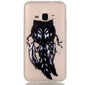 For Samsung Galaxy Case Glow in the Dark Case Back Cover Case Dream Catcher TPU Samsung J1 (2016)