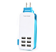 US 6Port USB Charger Socket Lightningproof Anti Overloading 5V 6A Output Voltage Length of Rope:1.4M (Assorted Colors)