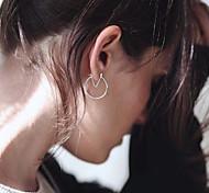 Women New V-Shaped Personalized Geometry Earrings Fashion Simple Alloy Earrings