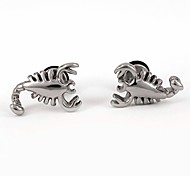 Highly Polished Scorpion Stainless Steel Screws Earrings
