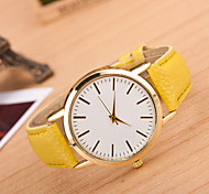 Women's Fashion Simplicity Quartz Analog Leather Wrist Watch(Assorted Colors)