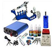 tatuagem basekey kit jh554 1 máquina rotativa com apertos de alimentação 3x10 ml de tinta