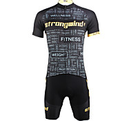 PaladinSport Men 's Cycyling Jersey + Shorts Bike Suits for DT619 winds