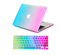 "2 in 1 Rainbow Colorful Full Body  Case +Keyboard Cover  for MacBook Air 11""Pro 13""/15"""