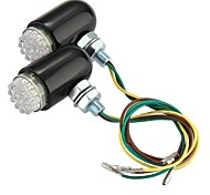 2 x 24 LED Flashing Light Indicator Lamp Rear Motorcycle Safety
