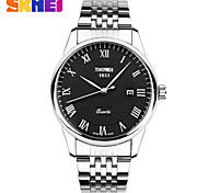 Men's Dress Watch British Style Stainless Steel Quartz Watch Waterproof Pointer Calendar (Assorted Colors) Wrist Watch Cool Watch Unique Watch