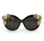 Sunglasses Women's Elegant / Modern / Fashion / Crystal Cat-eye Black / Leopard / Transparent Sunglasses Full-Rim