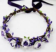 Wedding Headband, Flower Headband Floral Crown, Ivory , Floral Head Wreath, Bridesmaid Flower Crown, Flower Girls Flow