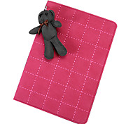 Grid Pattern with Cute Rabbit PU Leather with Stand Smart Case for iPad 2/3/4(Assorted Corlors)