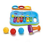 quebra-cabeça de brinquedo música para crianças abs vermelho / azul / amarelo