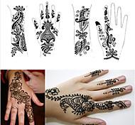 1pcs tatuaggio Modelli stampini mani henné tatuaggio per aerografia nuovo kit professionale body painting mehndi