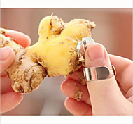 2Pcs Practical Stainless Steel Kitchen Gadget Garlic Ginger Cutter Peeler Tools