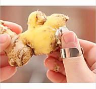 2pcs ferramentas práticas gadget de alho gengibre cortador descascador de cozinha em aço inoxidável