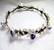 Flower Headband Floral Crown, Ivory , Floral Head Wreath, Wedding Headband, Bridesmaid Flower Crown, Flower Girls Flow