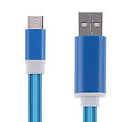 cwxuan® levou luz intermitente usb 3.1 Tipo de cabo do carregador de sincronização c usb de dados para tablet telefone / telemóvel