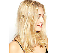 Women's Fashion Simple Star Pattern Spring Hairpin Hair Accessories 1pc