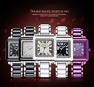 WEIQIN ® Fashion Watches for Women Luminous Hands Rome Style Square Rhinestone Dial Full Alloy Watch Relogio Feminino Cool Watches Unique Watches