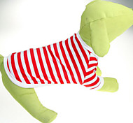 Classic Stripe Cound Collar Pet T-Shirt