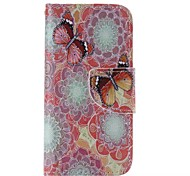 Colorful Butterfly Painted PU Phone Case for iphone5SE