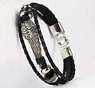 aile forme pu bracelet pour hommes