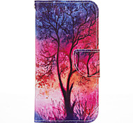 "Shining Tree PU leather with Stand Case for iPhone5S/SE 4.0""(Assorted Colors)"