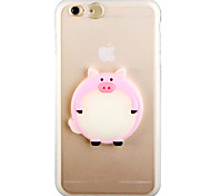 Glow in the Dark Pink Pig PC Back Case with Strap and Stand for iphone6plus/6splus