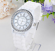 Women's Fashion Diamond Quartz Analog Silicone Wrist Watch(Assorted Colors) Cool Watches Unique Watches