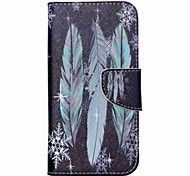 For Acer Case Card Holder / with Stand / Flip / Pattern Case Full Body Case Feathers Hard PU Leather for Acer