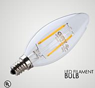 2W E12 Luci LED a candela B 2 COB ≥200 lm Bianco caldo Intensità regolabile / Decorativo AC 110-130 V 1 pezzo