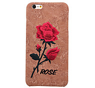 Chic Rose Embroidery Cover For Elegant Retro Art Handmade Flower Case For iPhone 6 Plus/6S Plus
