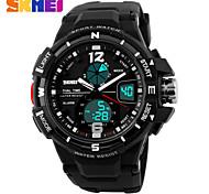 Men's Sport Watch Digital Watch LCD Calendar Chronograph Water Resistant / Water Proof Dual Time Zones Sport Watch Digital PU Band