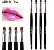Stellaalpina Lip Brush Nylon MAC Makeup Style Professional Wood Lip