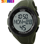 Men's Sport Watch LCD Calendar Chronograph Water Resistant / Water Proof Dual Time Zones Sport Watch Digital PU Band