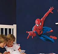 настенные наклейки Наклейки на стены, мультфильм супер Человек-паук Дети любят ПВХ стены стикеры
