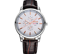 Men's Fashion Watch High-Grade Explosive Belt Waterproof Watch Dual Calendar(Assorted Colors) Wrist Watch Cool Watch Unique Watch