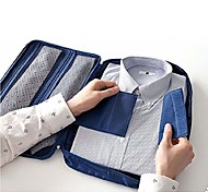 Portable Shirt and Ties Storage Bag Organizer Wrinkle Free Shirt Travel Packing Clothes Holder Dispenser