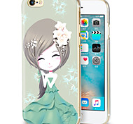 escudo do telefone fresco menina relevos pintados aplicar para iphone6 | 6s